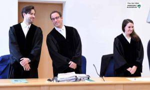 Die 3. Zivilkammer - hier bei der mündlichen Verhandlung im September - gab der Klage des Verlags in allen Punkten Recht.