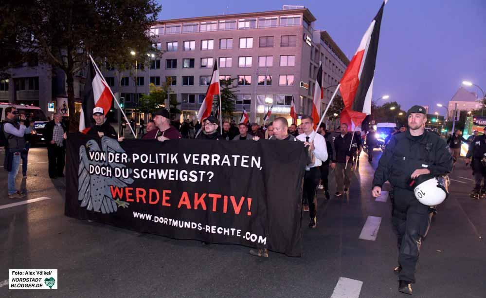 Die Neonazis wollen bis zum 23. Dezember jeden Montag in der Nordstadt demonstrieren. Fotos: Alex Völkel