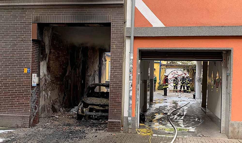 Am Sonntagmittag kam es zu einem Brand in einer Gebäudedurchfahrt eines Mehrfamilienhauses.
