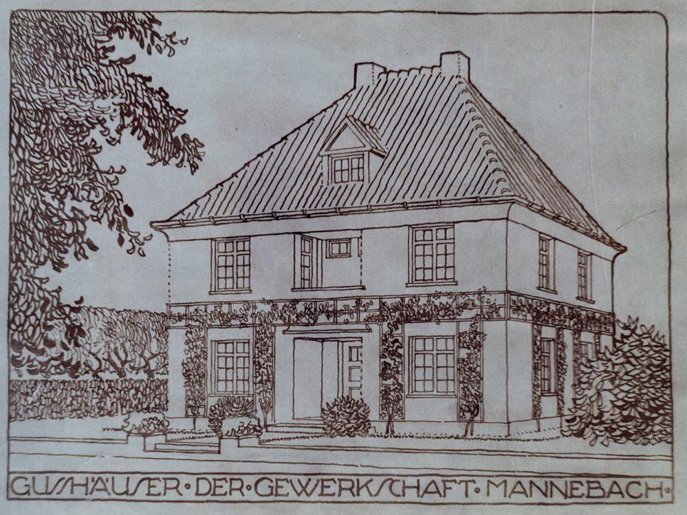 Musterhaus der Gewerkschaft Mannebach gemäß Prospekt (Stadtarchiv Dortmund, Bestand 3, Nr. 3093)