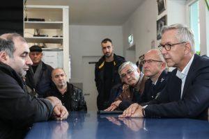 Polizeipräsident Gregor Lange besuchte am Nachmittag die Moschee.