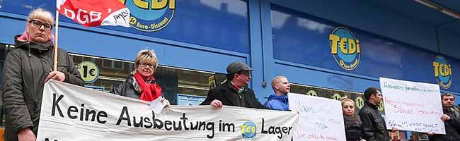 Tarifbindung an den Einzelhandel gefordert: Lager der Tedi-Märkte in Dortmund wird erneut von ver.di bestreikt