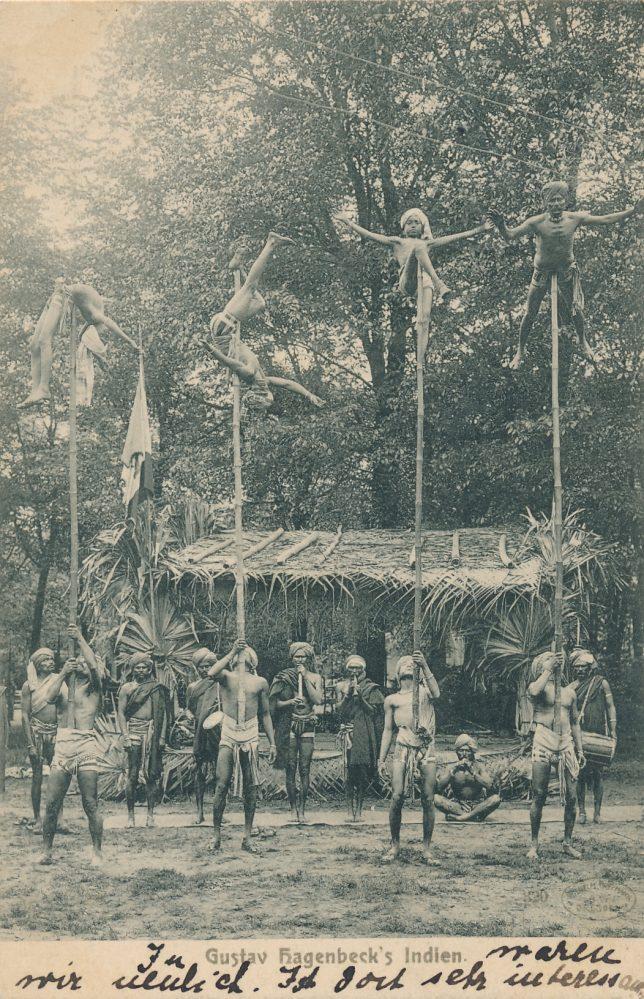 Hagenbecks Indien-Schau: Bambusstangen-Jongleure (Sammlung Klaus Winter)