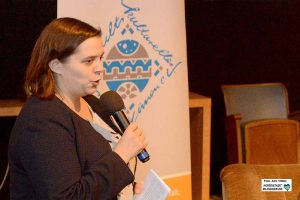 Multikulti-Pressesprecherin Zeynep Kartal fungierte als Moderatorin des Abends im sweetSixteen-Kino im Depot.