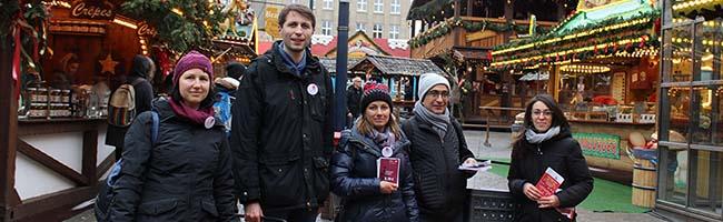 Mindestlohn am Glühweinstand: DGB klärt Weihnachtsstadt-Beschäftigte in Dortmund über ihre Rechte auf