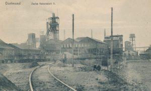 Zeche Kaiserstuhl , Schacht II von Westen, um 1910/15 (Sammlung Klaus Winter)