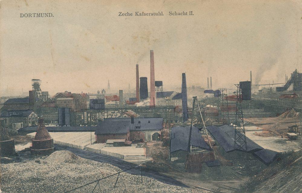 Zeche Kaiserstuhl , Schacht II von Norden, um 1910/15 (Sammlung Klaus Winter)
