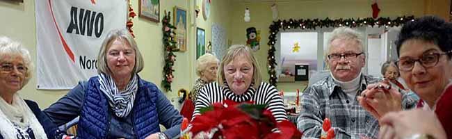 Stimmungsvoller Chorgesang und Festtagsmenü bei der Weihnachtsfeier im AWO-Ortsverein Nordstadt