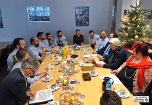 OB Ullrich Sierau, Ordnungsdezernent Norbert Dahmen und Ordnungsamtsleisterin Beate Siekmann besuchten das Nordstadtbüro.