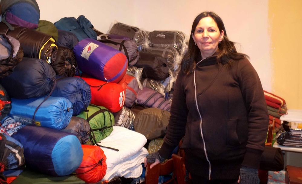 Ein umfangreiches Lager mit Spenden hat der Verein. Fotos: Susanne Schulte