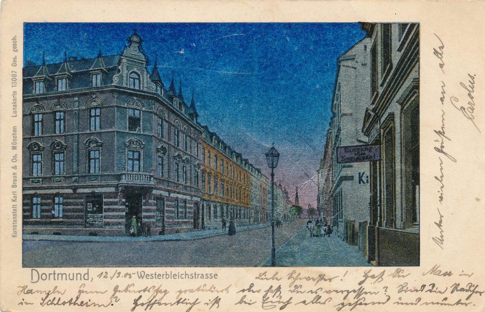 Westerbleichstraße, um 1905 (Sammlung Klaus Winter)