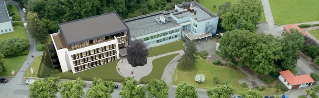 Ausbildung für Gesundheitsberufe: Neubauprojekt des Canisius Campus Dortmund feiert Richtfest am Hoeschpark