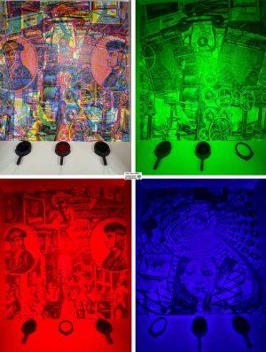 Ein Wandbild visualisiert perfekt die Wirkung von Filterblasen - je nachdem, durch welche Filter ich auf dasselbe Bild blicke.