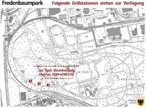 Offiziell gibt es nur drei Grillplätze, für die man sich vorher anmelden muss. Karte: Stadt Dortmund