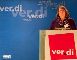 Die neue Vorsitzende des ver.di-Bezirks Westfalen, Dagmar Bremer.