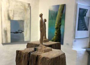 """Ausstellung """"einblicke 2019"""" - hier eine Arbeit von Bernd Moenikes."""