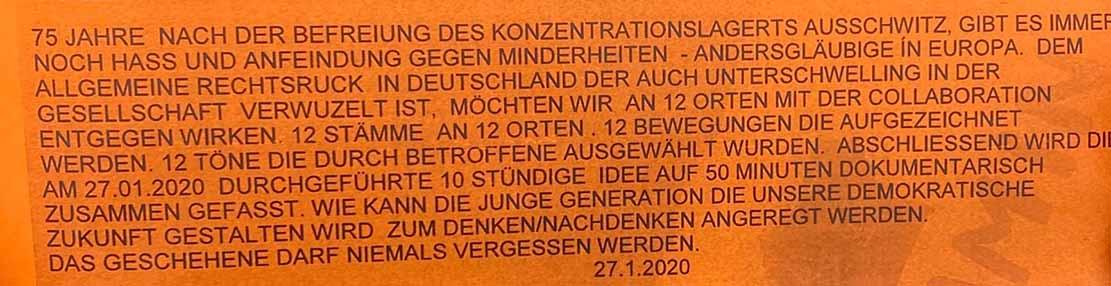 Diese Bekennerschreiben steckten in den Pflasterstein-Stelen. Fotos: Polizei