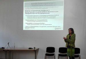 Mobilitätsforscherung Meike Spitzner bei ihrem Vortrag. Fotos: A. Steger