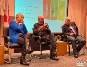 Prof. Dr. Gesine Schwan, Prof. Dr. Wilhelm Heitmeyer und Thomas Heppener diskutierte über die Herausforderungen.