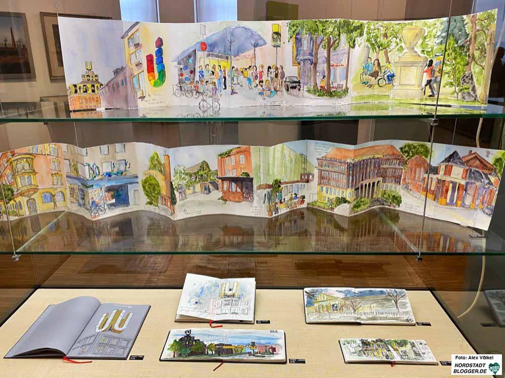 Relikte der Schwerindustrie sind in 61 Skizzen und 28 Skizzenbüchern zu entdecken. Fotos: Alex Völkel