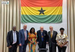 Großer Bahnhof für das neue Honorrakonsulat von Ghana in der Auslandsgesellschaft. Foto: Alex Völkel