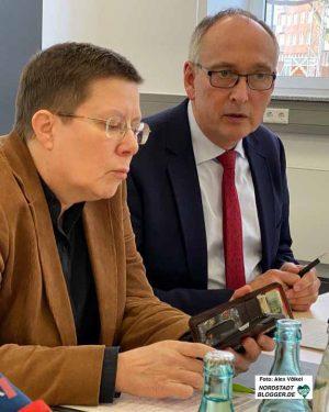 Viele Abstimmungsbedarf: Dezernentin Birgit Zoerner und Gesundheitsamtsleiter Dr. Frank Renken.
