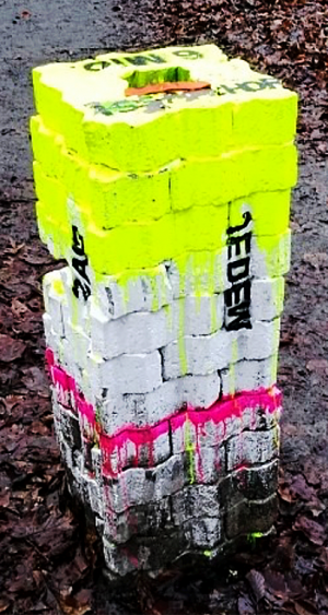 Erst nach Hinweisen wurde auch die zweite Stele in der Bittermark entdeckt.