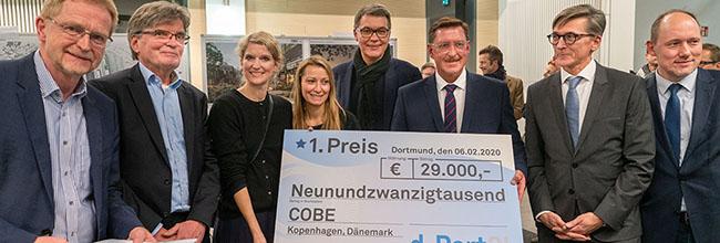 Preisverleihung und Ausstellungseröffnung: Stadt und d-Port21 zeigen Entwürfe für Nördliche Speicherstraße am Hafen