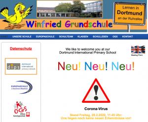 Die Winfried-Grundschule hat mit Gerüchten und Falschmeldungen zu kämpfen.