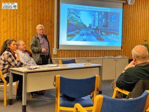 Heike Thomae, Stefan Dupke und Michael Lohmar informierten über die Arbeiten. Foto: Alex Völkel