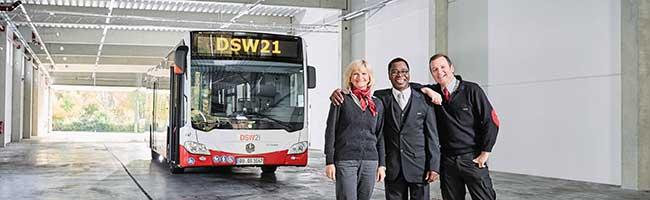 """""""Steig bei uns ein"""": gute Chancen auf einen Job mit Perspektive – DSW21 stellt mehr als 70 neue Busfahrer*innen ein"""