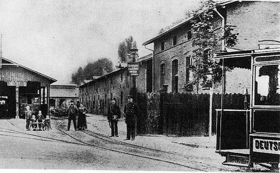Straßenbahn-Betriebshof am Burgweg (Sammlung Historischer Verein der Dortmunder Stadtwerke)