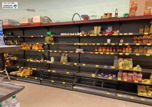 Manches Regal ist in den Supermärkten leer geblieben. Doch es gibt keine Versorgungskrise.