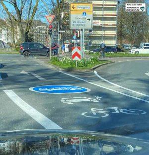 Die Umweltspur auf der Brackeler Straße. Foto: Alex Völkel