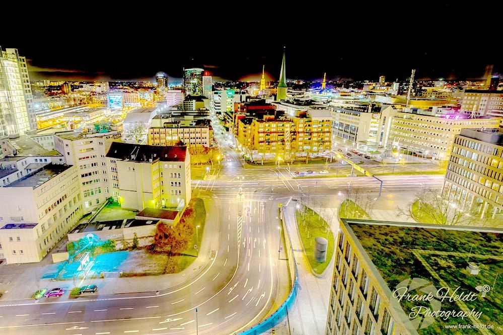 Dortmund bei Nacht. Foto: Frank Heldt