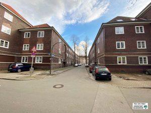 Die Franz-Liszt-Straße trennt die beiden Wohnblöcke.