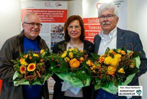 Arnold Pankratow, Renate Riesel und Georg Deventer erhielten die AWO-Verdienstmedaille.