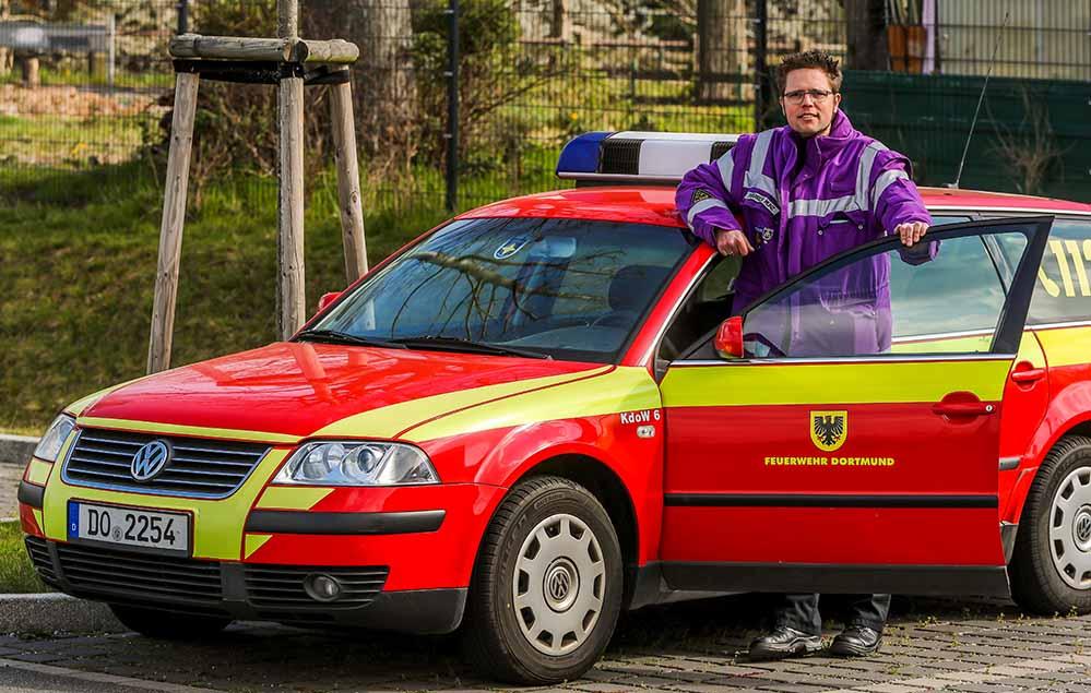 Pfarrer Hendrik Muenz arbeitet auch als Notfallseelsorger. Foto: Stephan Schütze/ VKKDO