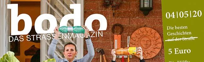 bodo-Straßenmagazin im April mit Solidaritäts-Doppelausgabe online oder per Post – Soli-Preis unterstützt die Verkaufenden