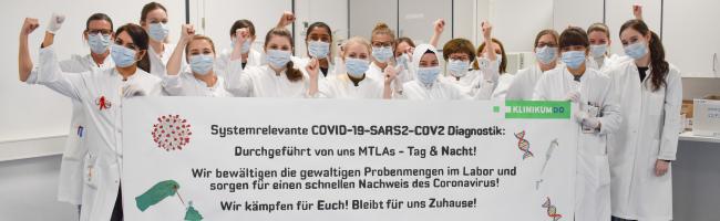Covid-19-Diagnostik für Dortmund und Umland: MTLAs des Klinikums prüfen bis zu 700 Corona-Abstriche pro Tag
