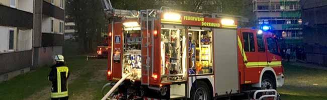 Feuerwehr Dortmund löscht brennende Wohnungen in Eving – die Bewohner*innen blieben beim Brand unverletzt