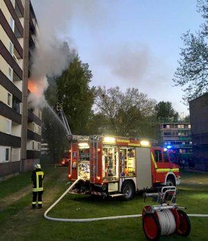 Rund zwei Stunden dauerte der Feuerwehreinsatz in Eving. Foto: FWDO
