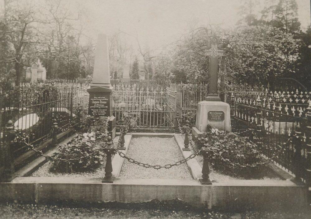 Grabanlage der Familie Brauns auf dem Westfriedhof um 1911 (Sammlung Klaus Winter)