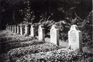 Soldatengräber des Ersten Weltkriegs (Hans Strobel: Dortmund. Bilder und Worte über Sein und Werden der Stadt, 1920)