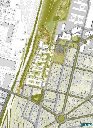 Neben viel Grün soll auch eine Fuß- und Radwegeverbindung in die Innenstadt entstehen.