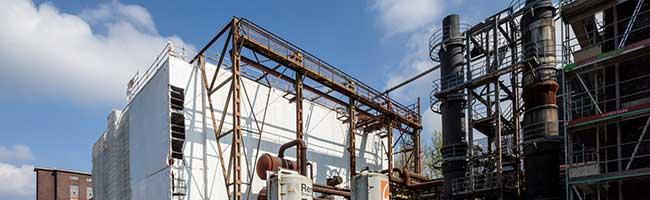 Veranstaltungshalle statt Klostergarten: Arbeiten an Salzlager und -fabrik der Kokerei Hansa schreiten voran