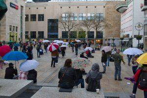Es gab am Samstag mehrere ungenehmigte Protestkundgebungen. Foto: David Peters