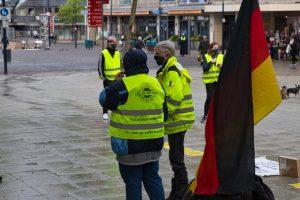 """Der Protest der sogenannten """"Gelbwesten"""" war angemeldet. Foto: David Peters"""