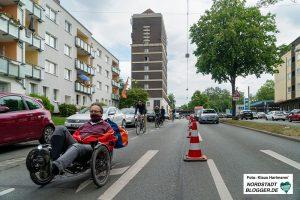 Temporärer Radfahrstreifen Heiliger Weg