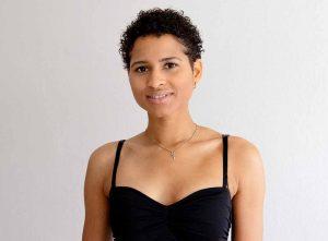 Tarilayu Andrea Weber, Vorstandsmitglied der African Tide Union. Für sie ist das Afrika Haus ein wichtiger Ort des Empowerments. (Foto: Maurice Kilian)